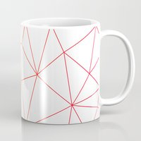 polygon Mugs featuring polygon by OHOO SIX