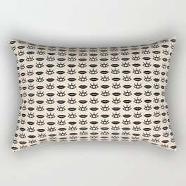 Eyes / Mouth Pattern Rectangular Pillow