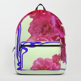 RED & PINK  ART NOUVEAU ROSES Backpack