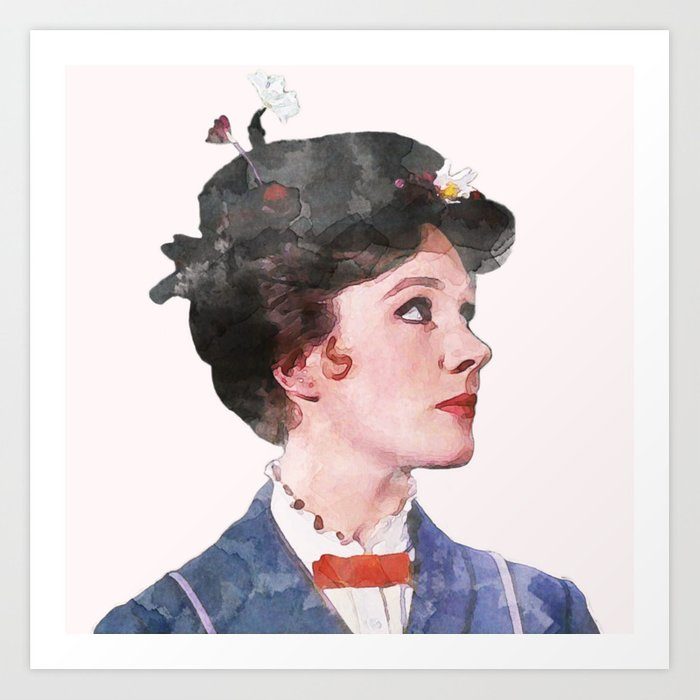 Mary Poppins - Watercolor Kunstdrucke