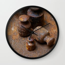 Old weights for scales Wall Clock