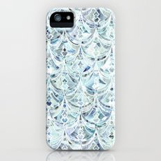 Ice and Diamonds Art Deco Pattern iPhone SE Slim Case