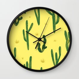 Desert Vibes Yellow Wall Clock