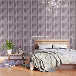 Simple Geometric Pattern 2 in Musk Mauve Wallpaper