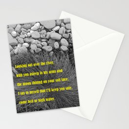 """The Yard #7"" with poem Stationery Cards"