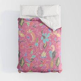 Bright Pink Batik Comforters