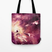 abyss Tote Bags featuring Abyss by Harold Urquiola