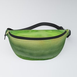 Spring Greens Abstract Watercolor Horizontal Pattern Fanny Pack