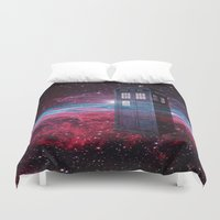 dr who Duvet Covers featuring Dr Who police box  by store2u