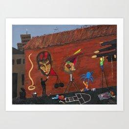 Basquiat Lives Art Print