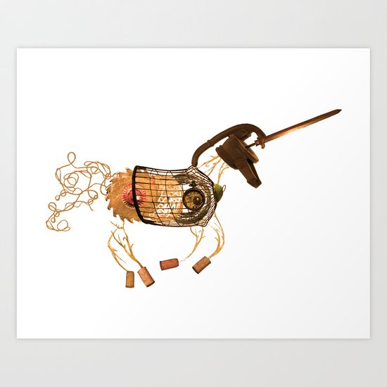 Steampunk Unicorn Art Print