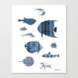 Shibori Sea Canvas Print