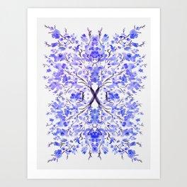 Sakura pattern blue Art Print