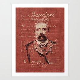 ROGUES GALLERY / 1894 Criminology - Bertillonage 002 Art Print