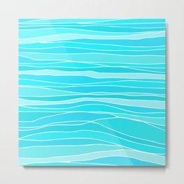 Caribbean Sea / Abstract Pattern Metal Print