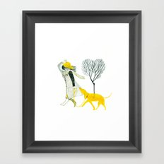 LOVE AND DOGS Framed Art Print
