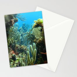Peeking through the coral forest Stationery Cards