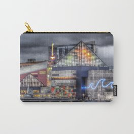 Baltimore Inner Harbor National Aquarium Skyline At Night Carry-All Pouch