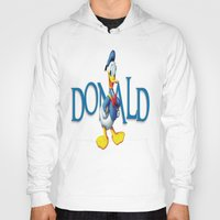 donald duck Hoodies featuring Donald Duck by Maxvision