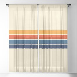 Classic Retro Stripes Sheer Curtain