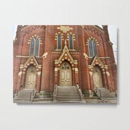 First Lutheran Church in Moline, Illinois Metal Print