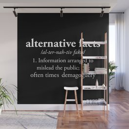 Alternative Facts Wall Mural