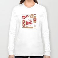 baseball Long Sleeve T-shirts featuring Baseball by Jessica Giles