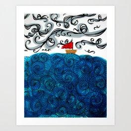 Elemental Duo: Water & Air Art Print