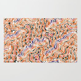 red topography Rug