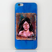 surrealism iPhone & iPod Skins featuring Surrealism by Crystal Lea Art