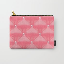 Abstract Quilted Pink Pearl Pattern Carry-All Pouch
