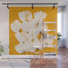 Flowers In Tangerine Wall Mural