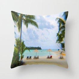 A Dreamy Day at a Tahitian Beach, Bora Bora Throw Pillow