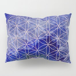 indigo agate with rose gold flower of life Pillow Sham