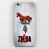 akira iPhone & iPod Skins featuring Zelda/Akira by Henrique Jardim
