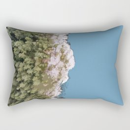 The forest and ocean from above Rectangular Pillow