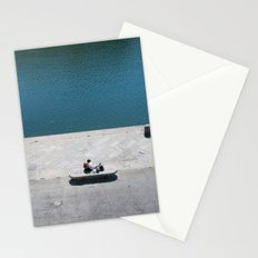 The reader and the river Stationery Cards