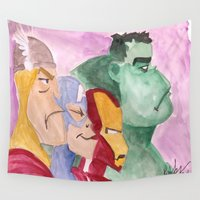 avenger Wall Tapestries featuring Avenger by Richtoon