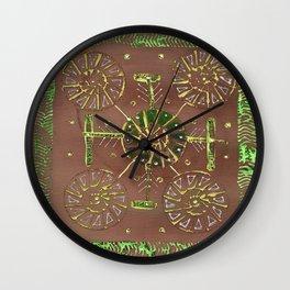 Green and Brown Wall Clock