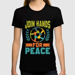 Social Justice Gift Join Hands for Peace T-shirt