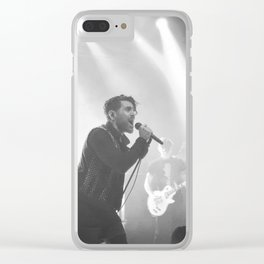 Live in Black and White Clear iPhone Case