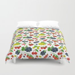 Colorful Berries Pattern Duvet Cover
