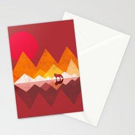 Roaming Lands - Wolf in mountains / animal t shirt, animal print t shirt, wildlife t shirt, Stationery Cards