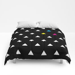 CMYK Triangles Comforters
