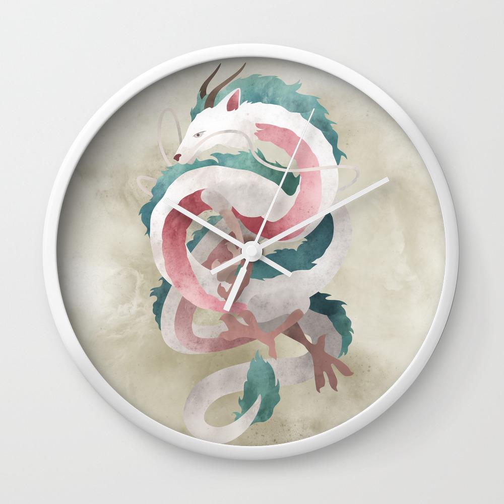 Spirited Away Haku Dragon Illustration Miyazaki Studio Ghibli Wall Clock By Lizasou Society6