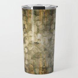 """Abstract golden river pebbles"" Travel Mug"