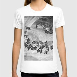 Midnight flowers blowing in the wind T-shirt