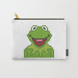 Kermit The Muppets Pixel Character Carry-All Pouch