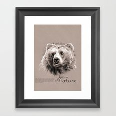 Bear (BornInNature) Framed Art Print