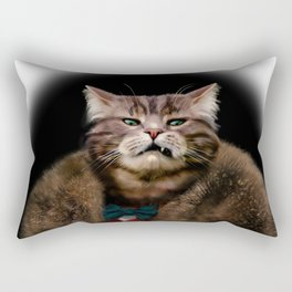 Arrogant sophisticated dressed cat boss looking with contempt Rectangular Pillow